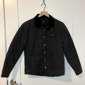 Brixton Men's Black Quilted Cass Jacket Corduroy